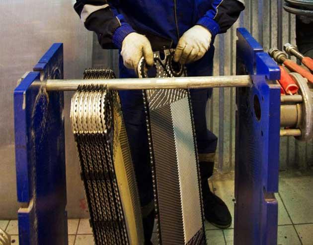 Фото ремонта пластинчатого теплообменника